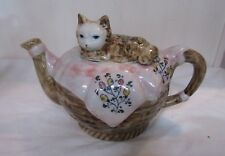 CAT LOVERS Teapot With Cat Lid HOW SWEET