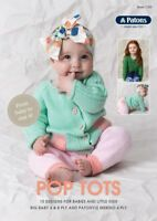 Knitting Pattern Book - Pop Tots - 10 Designs Ideas in Patons - 4ply and 8ply