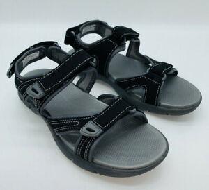 Khombu Women's Evelyn Comfort Adjustable Strap Sport Sandals - Black