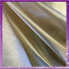 CRYSTAL LAME 58 INCHES WIDE FABRIC SOLD BY THE YARD GOLD