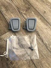 BMW E46 Coupe 3 Series Spring Loaded Coat Hooks Grey