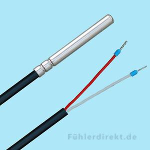PT1000 Temperaturfühler 105° 1,5m bis 20,0m Speicherfühler Kollektorfühler Tauch