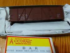 Accurail HO #7206 Bar / Wood Doors Metal End Box / Road #10264