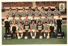 Cartoncino Hurrà Juventus Squadra 1989-90 Retro Con Firme Stampate