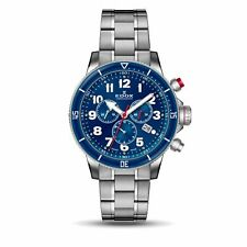 Edox 10227 3BURM BUB Men's Chronorally S Blue Quartz Watch
