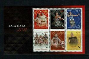 New Zealand: 2011 Kapa Haka, Maori Performing Arts, M/sheet, ordinary gum.