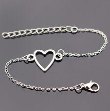 Bracelet cœur en argent plaqué pour femme