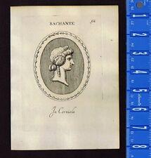 BACHANTE, BACCHANTE, BACCHUS Woman- Leonardo Agostini-Battista -1685 Engraving