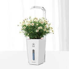 Indoor Hydroponic Flower Smart Pots with Plant Grow Light