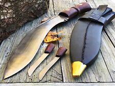 """FIXED BLADE KNIFE 17"""" Nepalese Military Gurkha Kukri Combat Blade Machete New"""