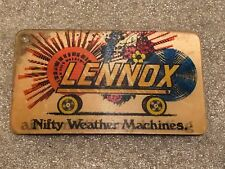 Vintage Lennox Heating Air Conditioning Advertising Flicker Card Dave Lennox