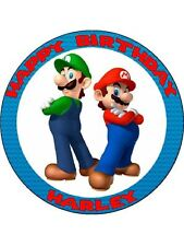 "Super Mario 7.5 ""papel de arroz Birthday Cake Topper 2"