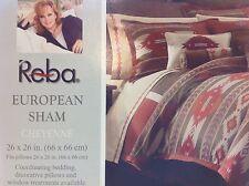 Reba Harmony CHEYENNE Brown/Gold Reversible Southwest EURO SHAM Set! NIP! $100!