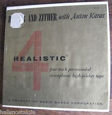 Reel to Reel Tape HITHER AND ZITHER WITH ANTON KARAS Realistic RST-451 4-track