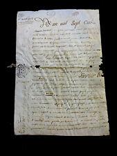 ANTIQUE PARCHMENT 1778