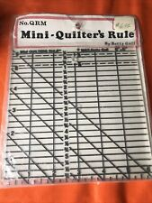 """Quilter's Mini Ruler-6""""X6"""" NOS Sealed"""