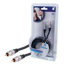 RCA zu RCA-Kabel (Audio Subwoofer-Anschluss) 2.5m. Professionelle Serie. OFC