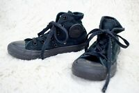 CONVERSE CHUCK TAYLOR ALL STAR HI TOP SNEAKERS Black Kids Size 13 Lace Up Shoes