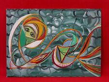 Peinture à l'huile sur carton entoilé artiste peintre Aubertine Lescoat  tableau