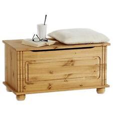 Sitztruhe Bank Box Kiste Kiefer massiv Holz Möbel Landhaus Stil mit Klemmschutz