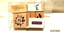 Close to My Heart S860 Flowers Scrapbooking Stamp Set of 6