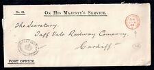 More details for gb 1905 kevii ohms official paid cover to taff railway company ws18531