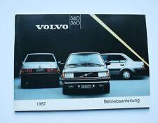 Volvo 340 360 1987  Betriebsanleitung Bedienungsanleitung Handbuch