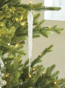 "RAZ IMPORTS - 11.75"" CRYSTAL ICICLE ORNAMENT - CLEAR"