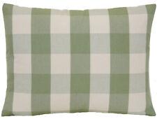 Green Checks Cushion Cover Ian Mankin Cotton Fabric Avon Check Sage CLEARANCE