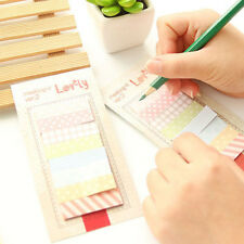 160Pages Desk Sticker Post Bookmark Point Marker Memo Pad Sticky Note 8 Grids