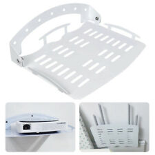 Wall Mount Bracket Stand Shelf Holder TV Set-Top Box DVR DVD Remote Cables White