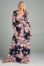 BNWT Vintage Blossom Womens Wrap Maxi Dress Size XL to XXXL CURVED BY NATURE