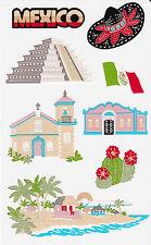 Mrs. Grossman's Giant Stickers - Mexico - Landmark - Paper Whisper - 2 Strips
