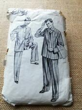 """Le Roy 1950s VINTAGE Sewing Pattern 2097 Mens CLASSIC TAILORED PYJAMAS 38"""" m"""