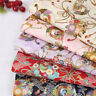 100% Cotton Kimono Chinese Tang Suit Cloth Japanese Style Bronzing Flower Fabric
