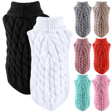 Pretty Soft Pet Dogs Knitted Jumper Sweater Winter Warm Puppy Clothes Pullover