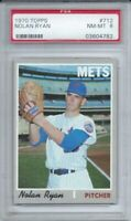 1970 TOPPS # 712 NOLAN RYAN, PSA 8 NM-MT, HOF. NEW YORK METS, AWESOME,  L@@K !