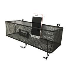 Home Iron Wall Hanging Basket Shelf Holder Storage Rack Decor Display Organizer
