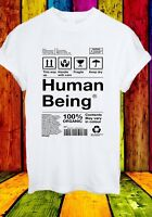 100% Organic Human Being Fragile Handle With Care Men Women Unisex T-shirt 2746