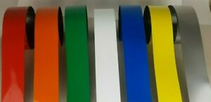 Magnetic Easy Wipe Rack Labeling Write On Tape 1 Metre x 50mm Strips All colours