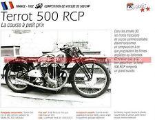 TERROT 500 RCP 1932 Fiche Moto 000244