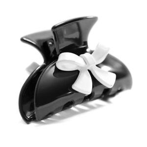 Moliabal Milano Medium Claw-  Black | White Bow