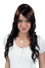Ladies Wig Light Corkscrew Curls Braun Long Hair Replacement 65 cm 9340-33