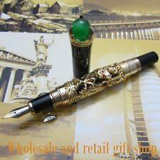 Jinhao Gold dragon king play pearl fountain pen beautiful retro culture gift pen