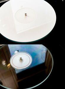 LCV Acrylic Platter Mat 2mm Turntable Mat Slipmat Clear/White Perspex Audiophile