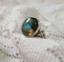 Hallmarked Labradorite 925 Sterling Silver Ring Size 6.5
