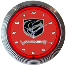 "Dodge Viper Car Garage Neon Clock 15""x15"""