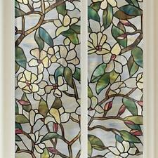 Privacy 3D Flower Stained Static Glass Film Window Film Bathroom Window Decor
