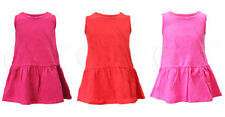 Girls' 100% Cotton Tunic Crew Neck Sleeveless T-Shirts & Tops (2-16 Years)
