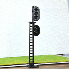 2 pcs O Scale 1:48 LEDs Made 2 heads Railroad Signals 3 over 2 G/Y/R G/Y